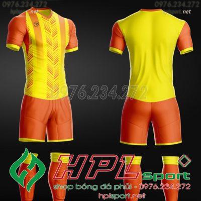 Mẫu áo bóng đá không logo hot 2020 màu vàng