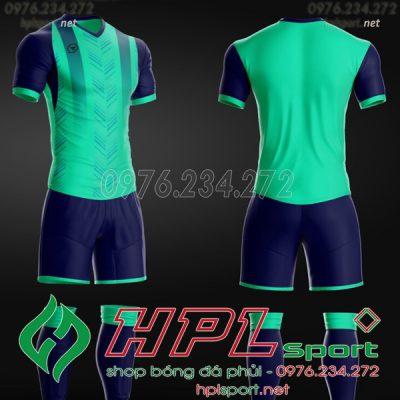 Mẫu áo bóng đá không logo hot 2020 màu xanh ngọc