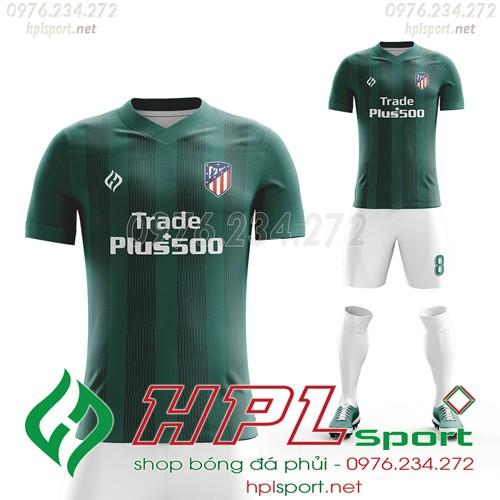Mẫu áo thứ 3 của Atletico  2022 màu xanh lí