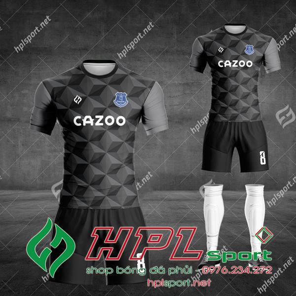 Áo bóng đá thiết kế màu đen đẹp 2021