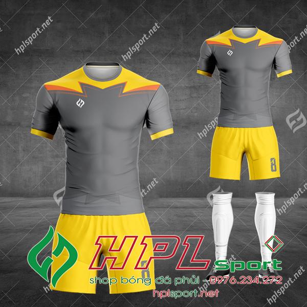 Mẫu áo bóng đá không logo màu xám đẹp nhất