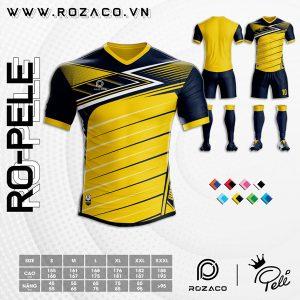 Áo bóng đá đuôi tôm màu vàng