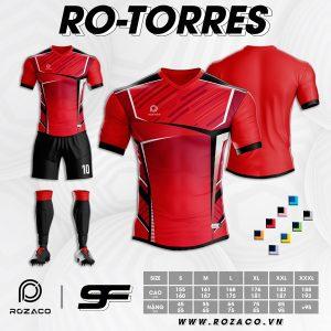 Áo bóng đá không logo đuôi tôm màu đỏ