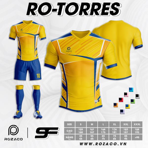 Áo bóng đá không logo đuôi tôm màu vàng