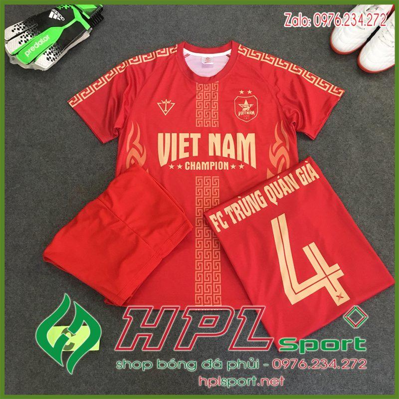 Mẫu in áo bóng đá màu đỏ đẹp Hplsport
