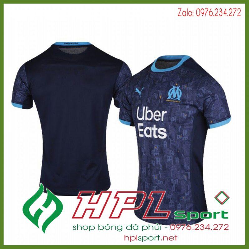Mẫu áo bóng đá CLB Marseille 2021 màu tím than đẹp